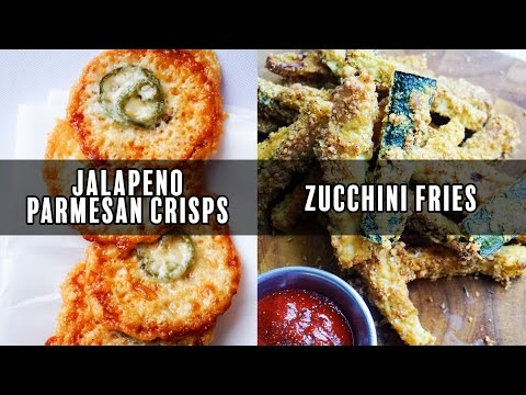 Parmesan Crisps AND Zucchini Fries Recipe Video! Quick and Easy Keto Snacks