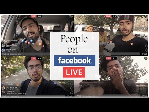 TYPES OF PEOPLE DO LIVE ON FACEBOOK  || DLR Production ||