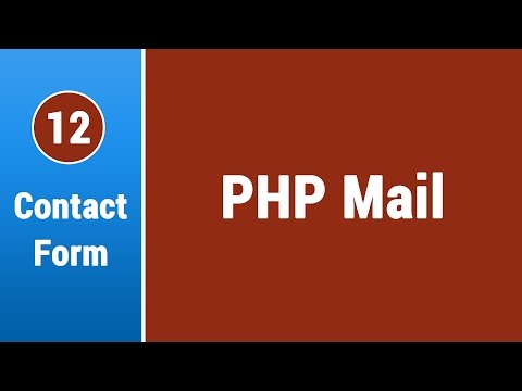Create Contact Form in Arabic #12 - Use The PHP Mail Function