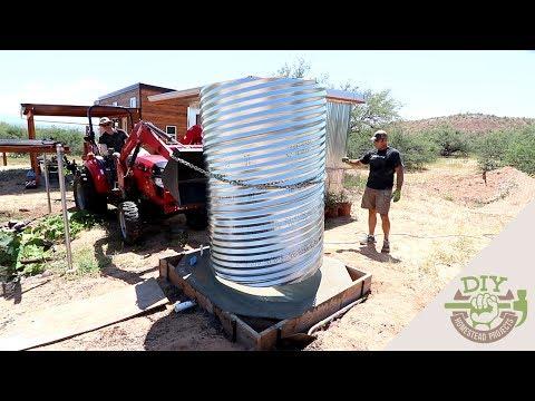 DIY Culvert Cistern for Rainwater Harvesting & Collection