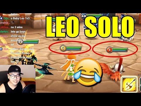 Wind Dragon Knight - Leo - solo  1 v 3 in Guild War!!