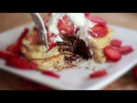 Nutella Stuffed Pancakes Recipe ~ Loved them!