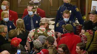 Michigan State Capitol Overrun by Armed Lockdown Protesters