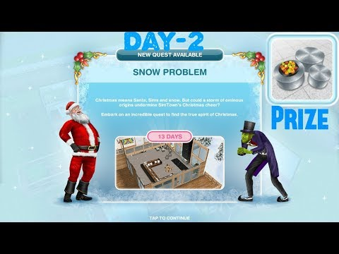 Simsfreeplay - Snow Problem Quest Day -2 Christmas Holiday Update