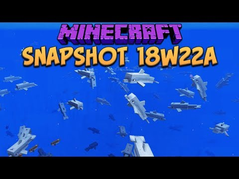 Minecraft 1.13 Snapshot 18w22a Dolphin Madness Fixed! Rail Fixes & The Return Of Parrots And Ocelots
