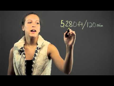 How to Find MPH With Feet & Minutes : Math Lessons & Tips