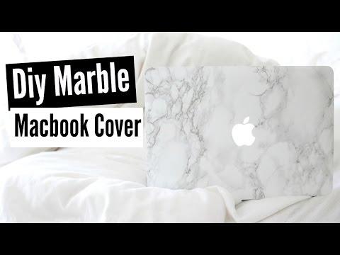 ♡DIY Marble Macbook Cover!♡