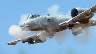 """""""Tanks Killer"""" A-10 Thunderbolt II in Action - Insanely Powerful  GAU-8 Avenger Cannon Live Fire"""