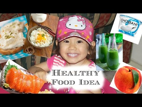 Healthy Food Idea! Breakfast Lunch Dinner and Snacks! Hanna and Mia