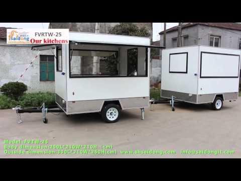 How to Build New Zealand standard food trailer/food carts/ vending carts,