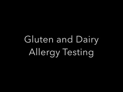 Gluten and Dairy Allergy Testing