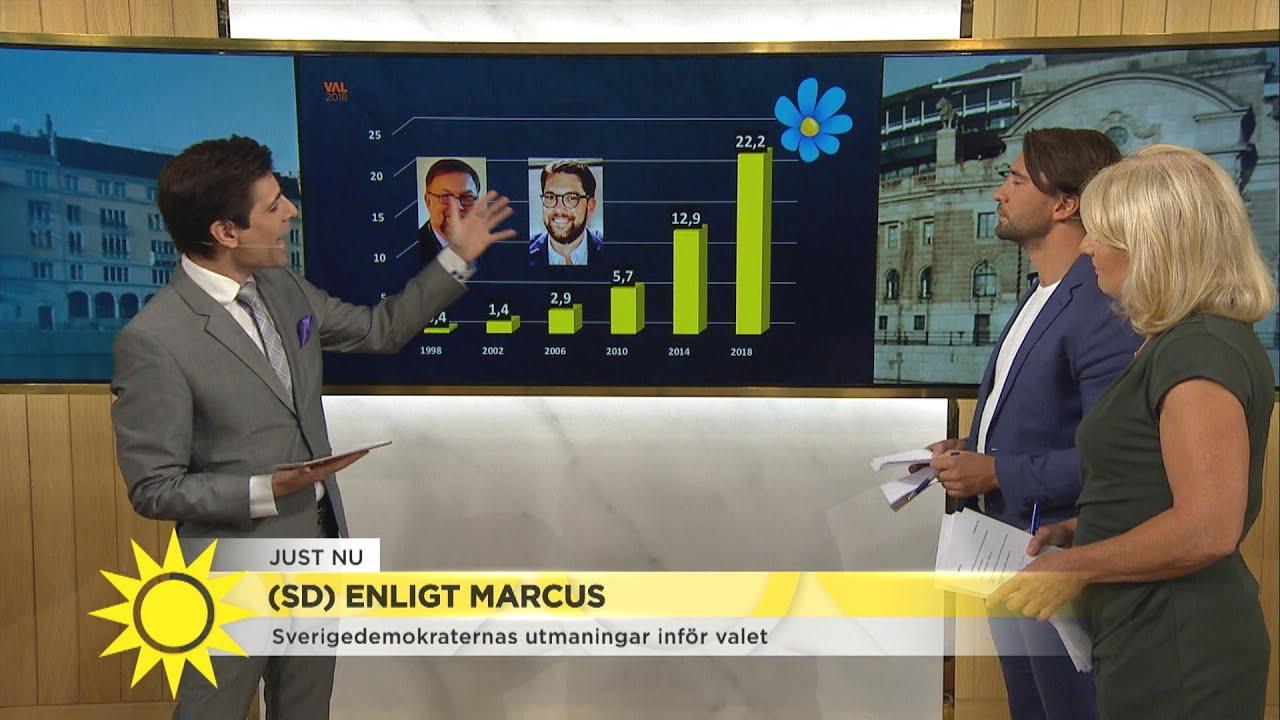 Sverigedemokraterna stormar fram i mätningarna  - Nyhetsmorgon (TV4)
