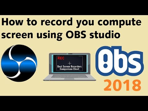 how to record laptop screen with obs | obs screen recorder tutorial 2018 | Best pc screen recorder
