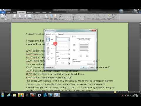 Add Background Color To Word 2007 2010 Documents  Step By Step Tutorial
