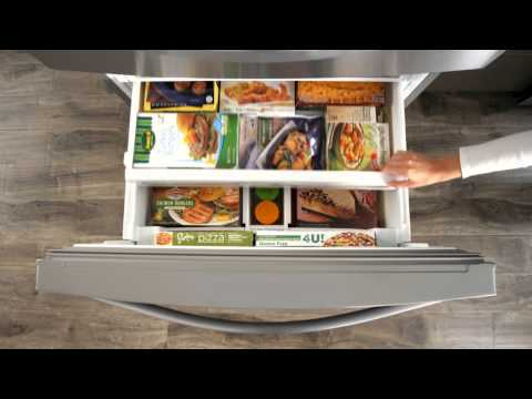 Whirlpool® Four Door French Refrigerator with Tri-Freezer System