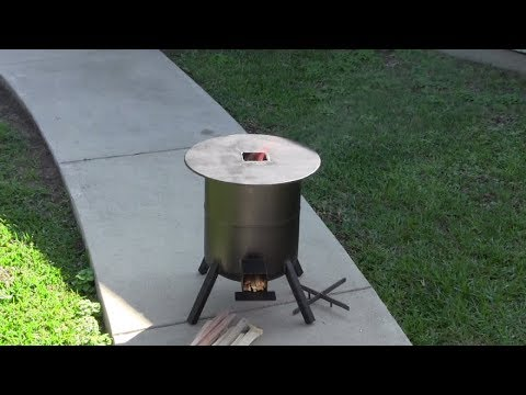 How to build a  rocket stove (from a propane tank)