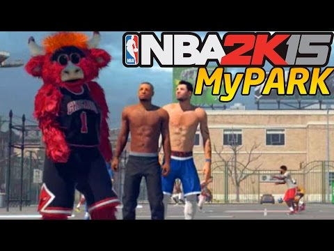 NBA 2K15 My Park: Self Bounce Pass Alley-oop - The Craziest Dunks In NBA 2K15
