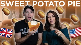 🇬🇧BRITISH Try SWEET POTATO PIE for the FIRST TIME! 🇺🇸