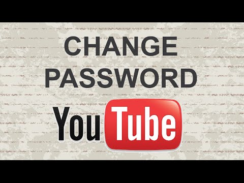 Change Youtube password 2015