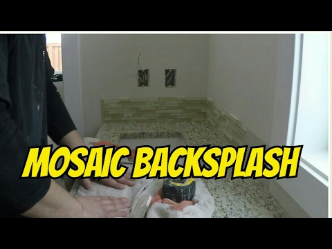 HOW TO INSTALL GLASS TILE BACKSPLASH STONE & GLASS METAL TILE