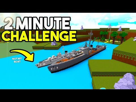 2 MINUTE BOAT CHALLENGE!   Build A Boat For Treaure w/ FlyNMidget