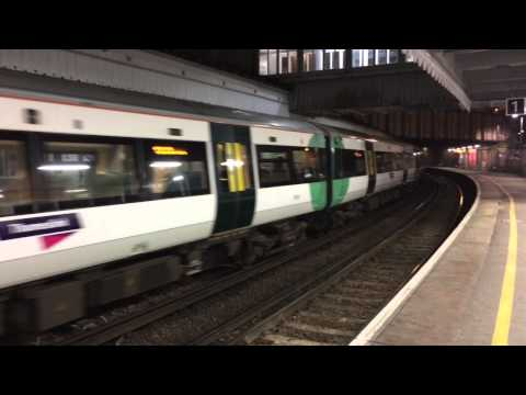 New Thameslink Express service At Tunbridge Wells. January 2015.