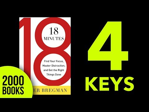 18 minutes book summary - Find your Focus, Master Distractions. Peter Bregman