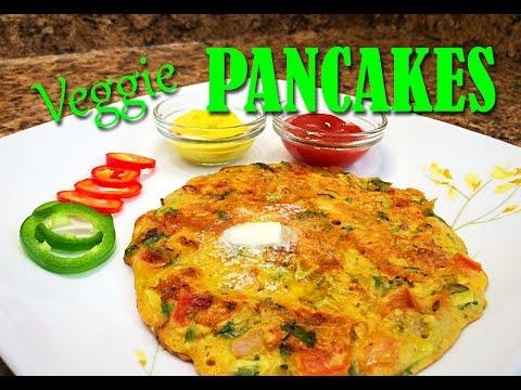 Spicy Veggie Pancakes - Breakfast recipe - Quick