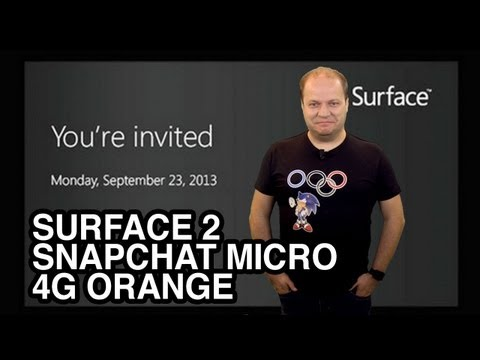 freshnews #501 Tablettes Surface 2 le 23/09, Snapchat sur Gear, 4G Orange