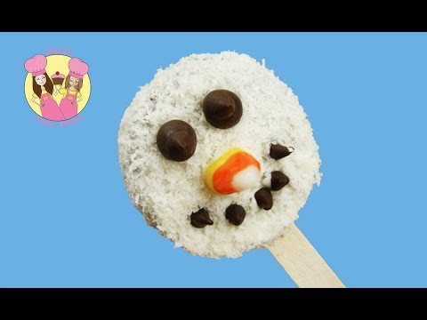 Make an easy CHRISTMAS SNOWMAN Oreo cookie pop or cake pop - recipe by Charli's Crafty Kitchen