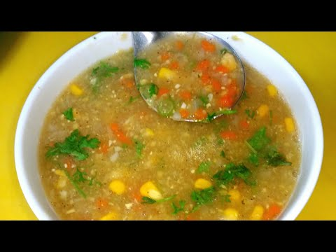 Healthy and tasty corn soup || homemade vegetable soup