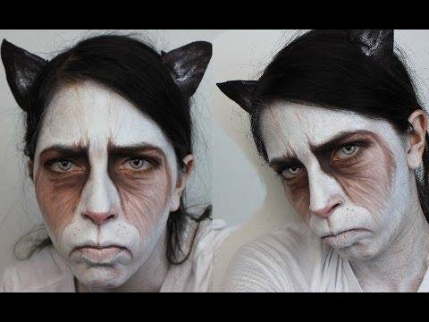 Halloween Makeup: Grumpy Cat