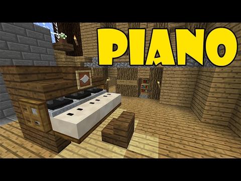 How To Make PIANO | Minecraft PE (Pocket Edition) MCPE