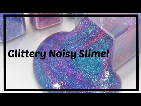 How to Make Clicky, GALAXY Slime WARNING: Very Satisfying