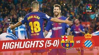 Resumen de FC Barcelona vs RCD Espanyol (5-0)