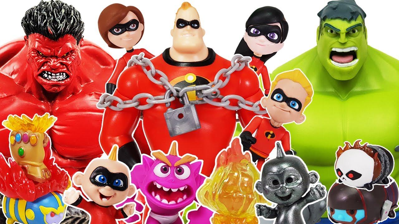 Incredibles 2, Ben 10 Go~! Avengers, Hulk, Iron Man, Spider-Man, Thor, Captain America, Thanos