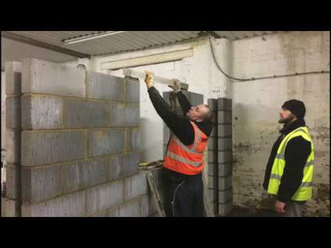Building a dividing factory wall