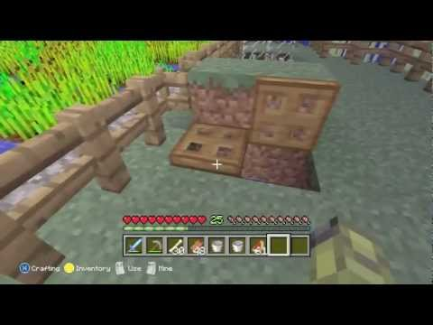 Minecraft Xbox 360 Edition Tutorial - How to make a simple chicken farm.
