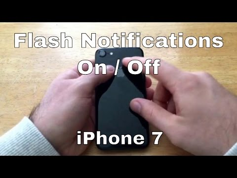 How to Turn LED Flash for alerts on/off iPhone 7/7+