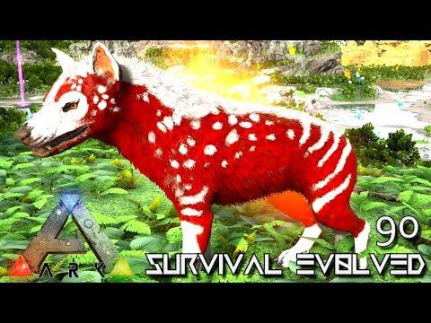 ARK: SURVIVAL EVOLVED - ALPHA HYAENODON TAMING E90 !!! ( ARK EXTINCTION CORE MODDED )