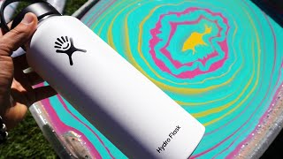 HYDRO DiP💧HYDRO FLASK !! 💦 (Satisfying) ft. Loveliveserve