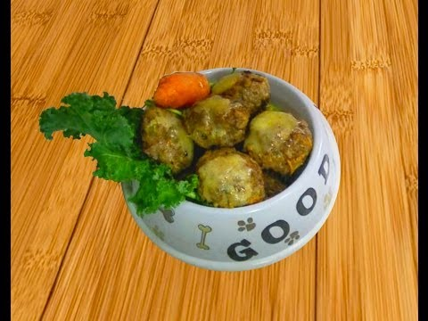BEEF MINCE MEATBALLS. DIY Dog Food!  Make Meatballs for your pup. Tutorial by Cooking for Dog.