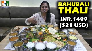 Bahubali Thali #50 Iteams at one Meal #RareFoods