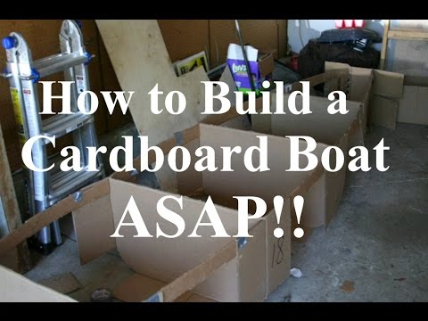 How to Build a Cardboard Boat ASAP!! - Tutorial