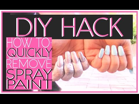 DIY SECRET | How To: Remove Spray Paint From Your Hands