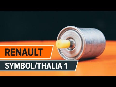 How to replace fuel filter onRENAULT SYMBOL/THALIA 1[TUTORIAL AUTODOC]