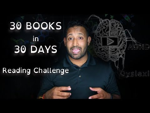 Hack ADHD and Dyslexia to Read a Book a Day for 30 Days (Challenge Overview)