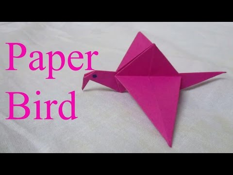 Origami bird - how to make an easy origami bird step by step