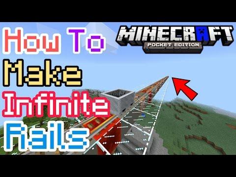HOW TO MAKE INFINITE RAIL IN MCPE | Minecraft PE