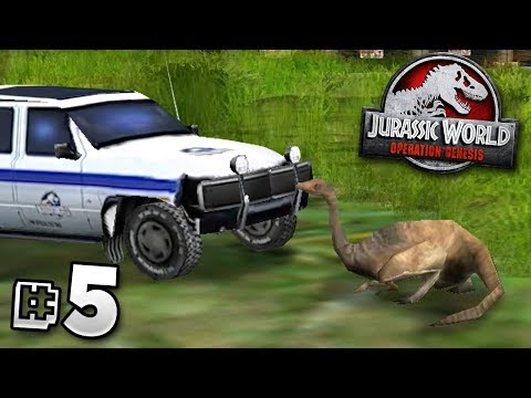 Gallimimus And The Car! - Jurassic World Operation Genesis | Jurassic Month